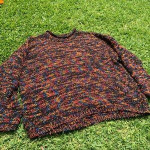 🔥 VINTAGE Coach + Camel Multi Spirited Sweater